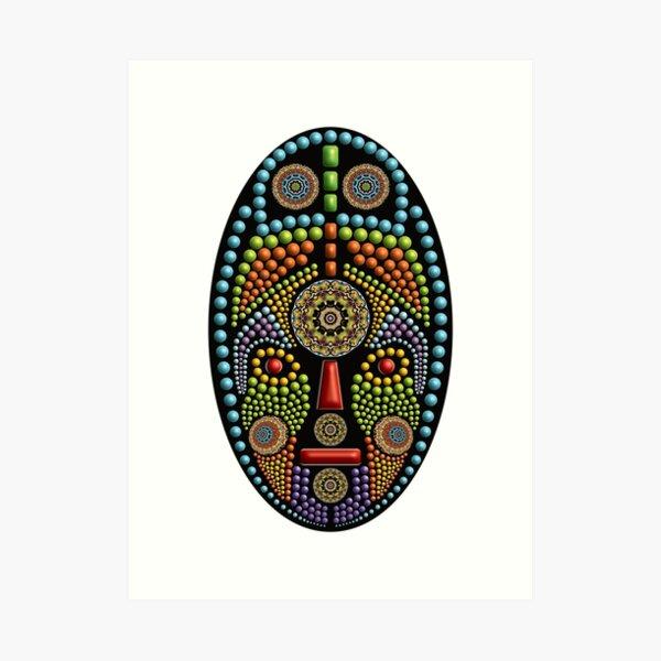 African Mask 07 Art Print