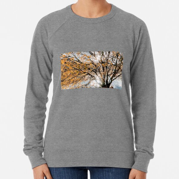 Autumn Blaze upon the Lake Lightweight Sweatshirt