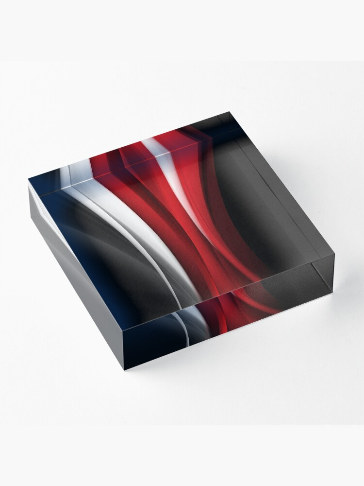 Alternate view of Red And White Acrylic Block