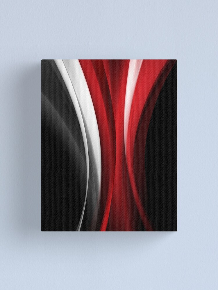 Alternate view of Red And White Canvas Print