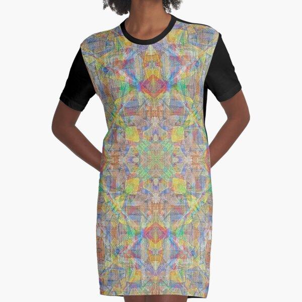 BOUDHANATH NEPAL PRAYER FLAGS AND BRICK HOUSES 3 Graphic T-Shirt Dress