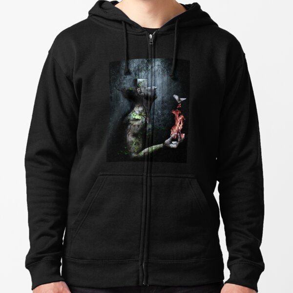 Dismantle The Dark We March On Zipped Hoodie