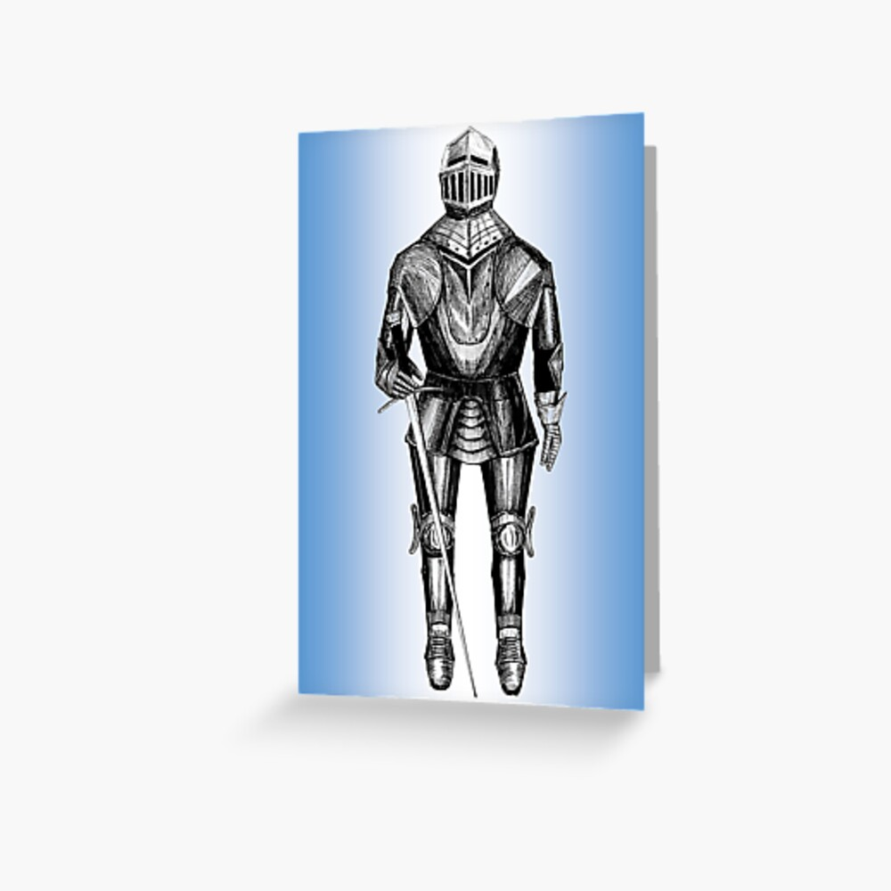 Suit of Armour Greeting Card (Blank) Greeting Card