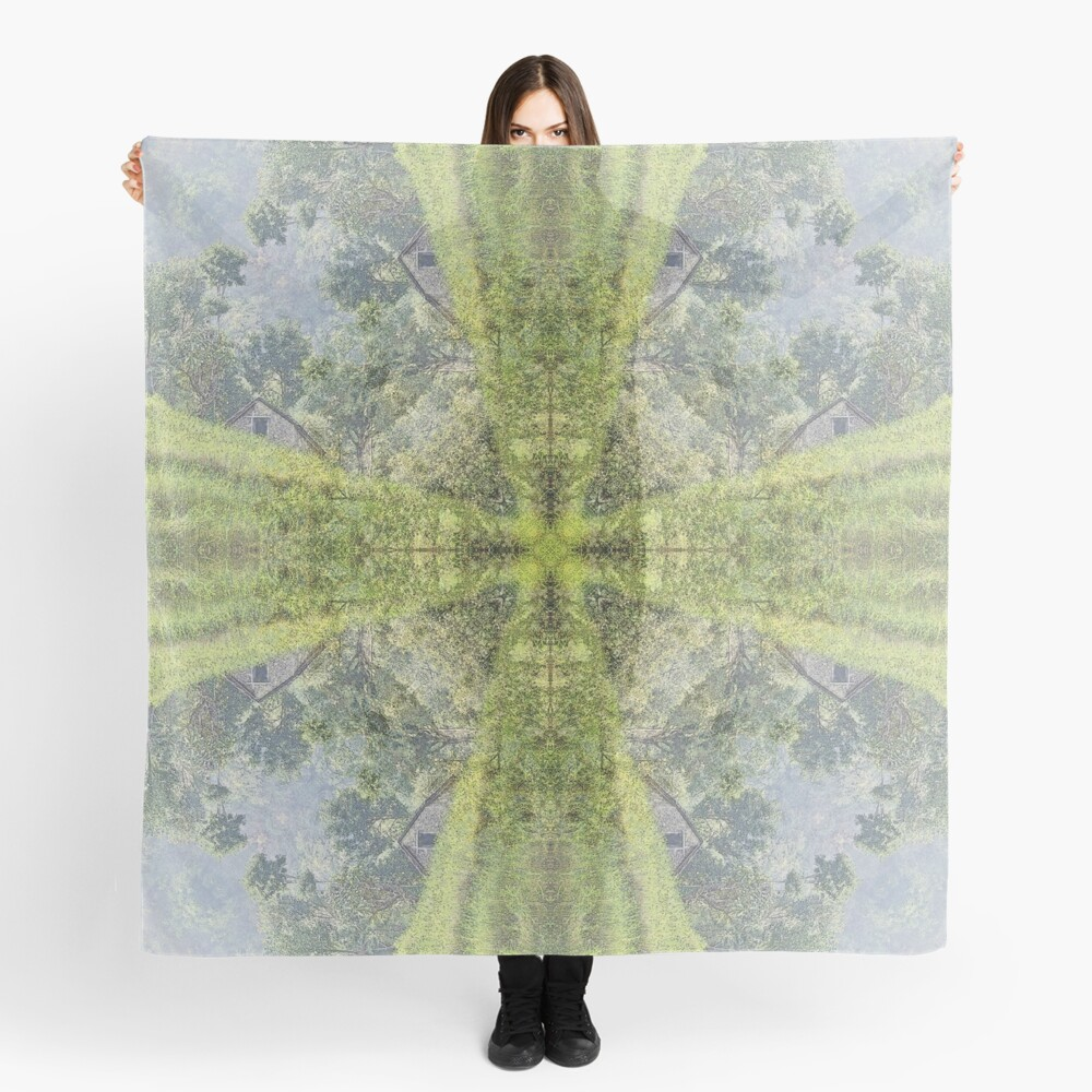 RICE FIELD AND BARN IN NEPAL Scarf