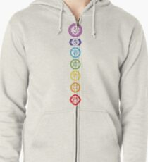 Chakras - The 7 Centers of Force Zipped Hoodie