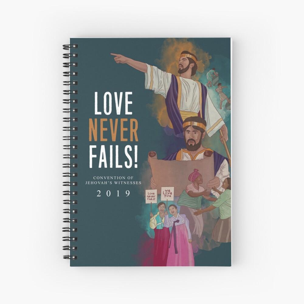 LOVE NEVER FAILS! (JOSIAH) ENGLISH Spiral Notebook