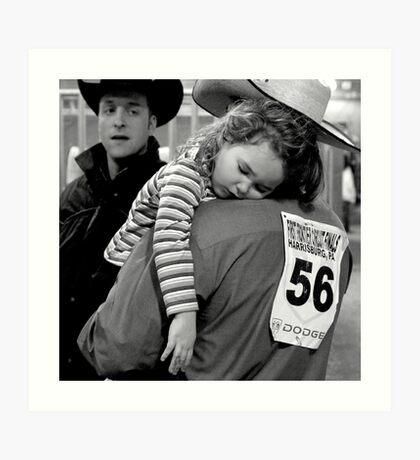 A Cowboy's Shoulder Art Print