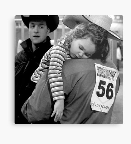 A Cowboy's Shoulder Metal Print