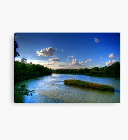 Silence on the River  Canvas Print