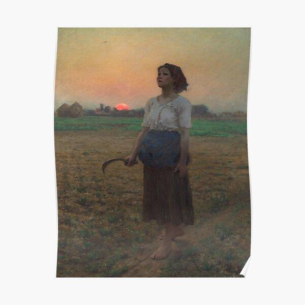 Jules Breton. Le chant de l'alouette, 1884. Poster