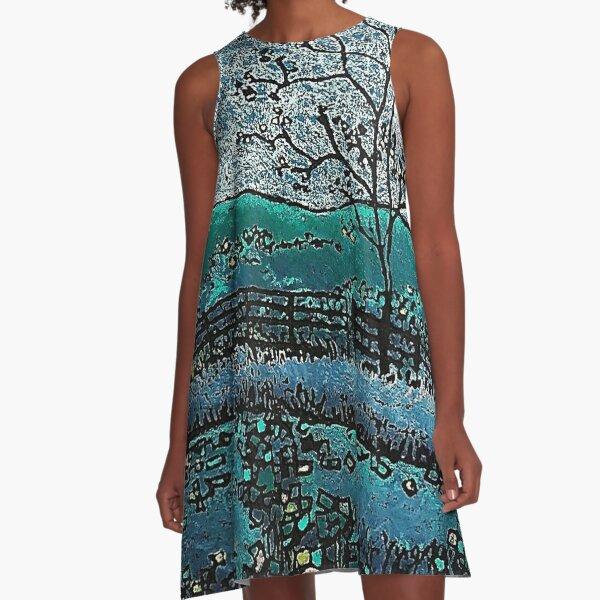 Eads in Blue A-Line Dress