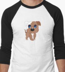 Chibi Pitbull Staffordshire Baseball ¾ Sleeve T-Shirt