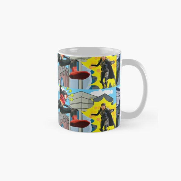 Woman Hero Vs. Woman Villain.   Action Figure Fight! Classic Mug