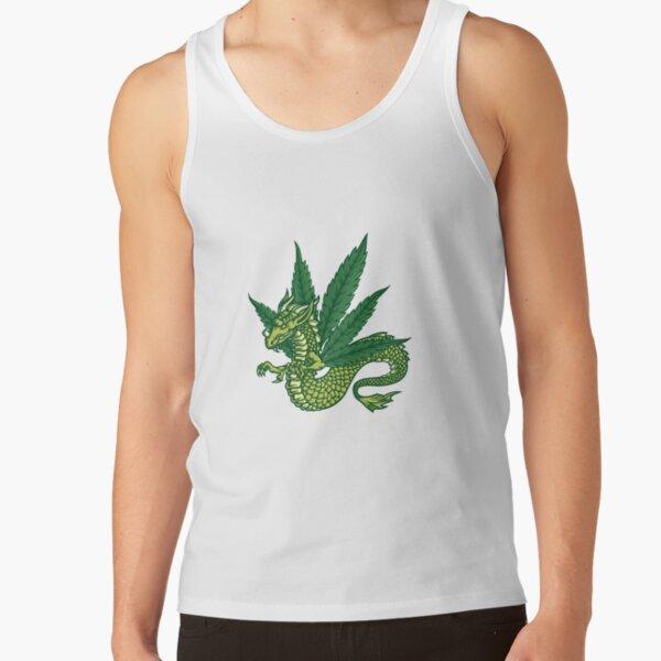Marijuana Dragon - White Tank Top