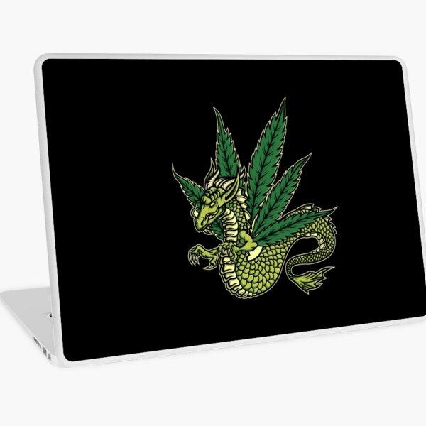 Marijuana Dragon - Black Laptop Skin