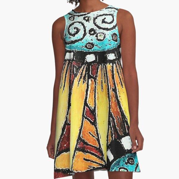 Sunflowers A-Line Dress