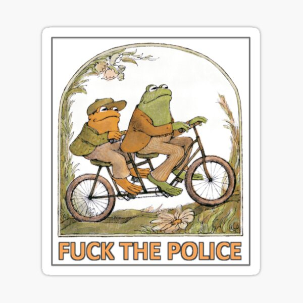 frog and toad fuck the police Sticker