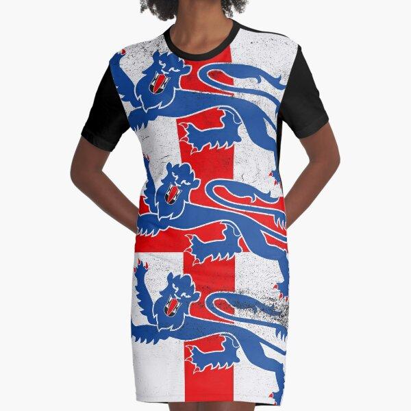 England flag three lions Graphic T-Shirt Dress