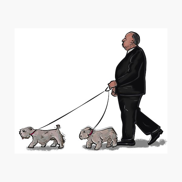 Alfred Hitchcock (and dogs) Photographic Print