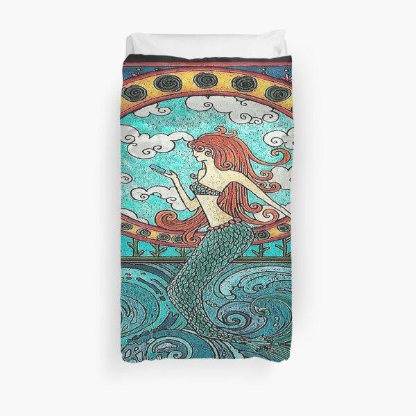 Art Deco Mermaid Horizontal Duvet Cover