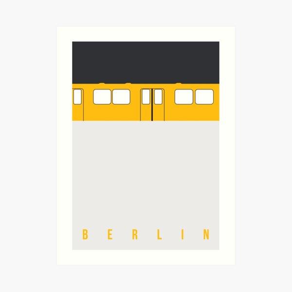 U-Bahn Berlin - Berlin Metro Art Print