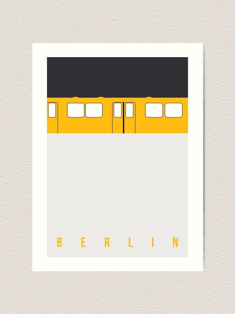 Alternate view of U-Bahn Berlin - Berlin Metro Art Print