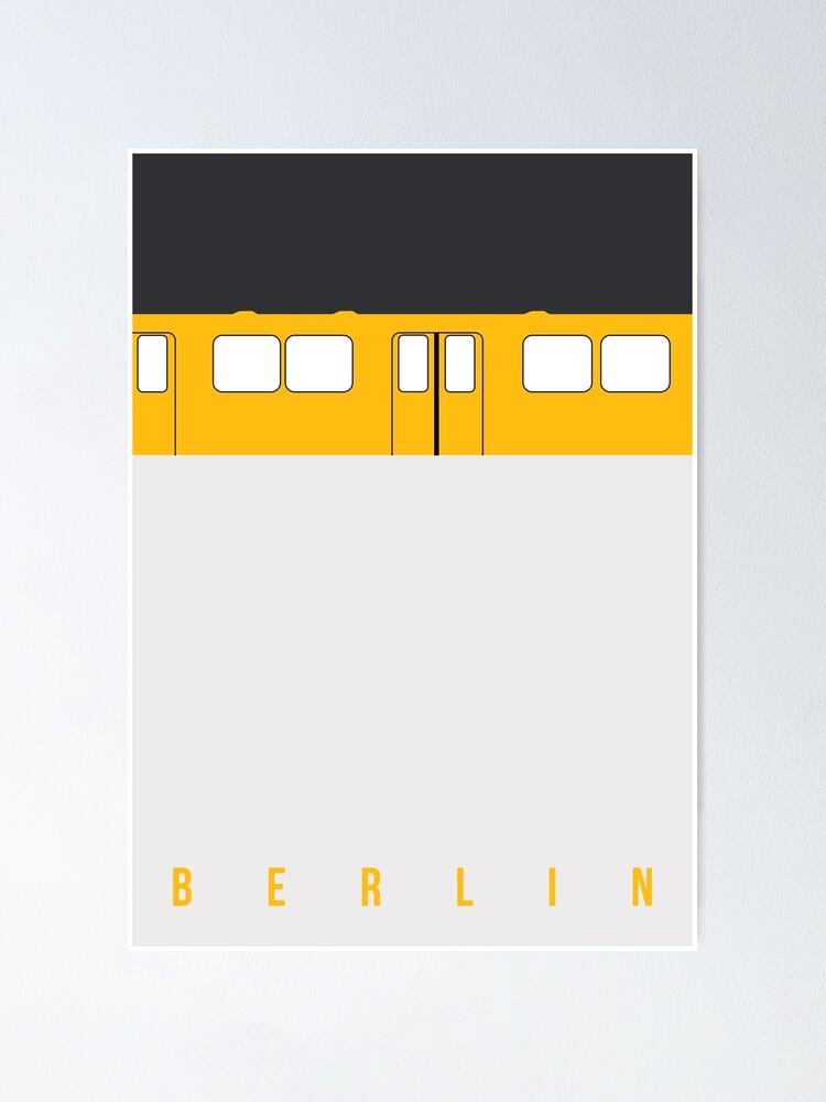 Alternate view of U-Bahn Berlin - Berlin Metro Poster