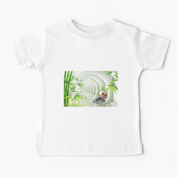 #Bamboo, #leaf, #nature, #summer, growth, tropical, water, relaxation, grass, wood Baby T-Shirt