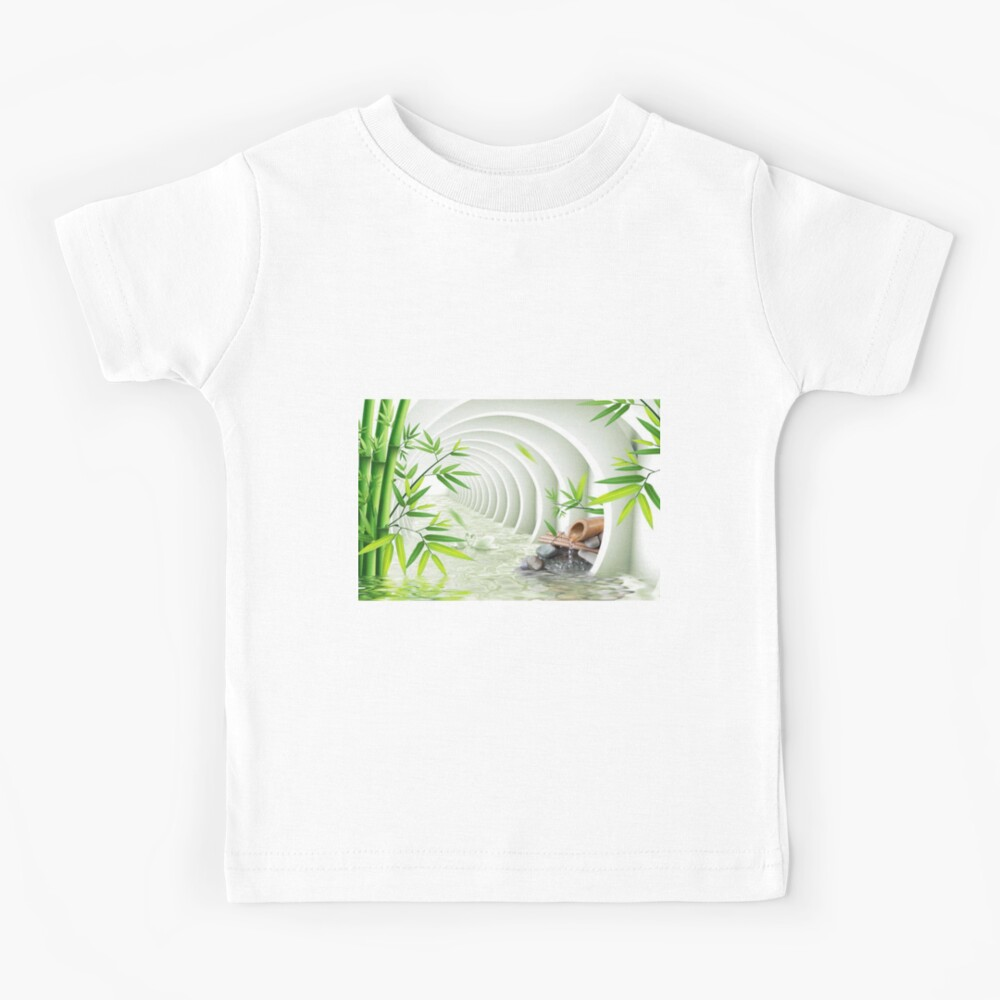 #Bamboo, #leaf, #nature, #summer, growth, tropical, water, relaxation, grass, wood Kids T-Shirt