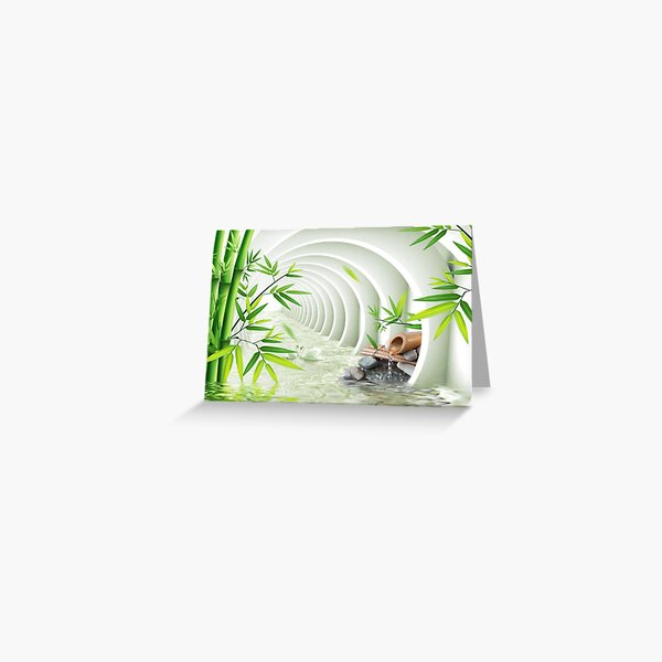 #Bamboo, #leaf, #nature, #summer, growth, tropical, water, relaxation, grass, wood Greeting Card