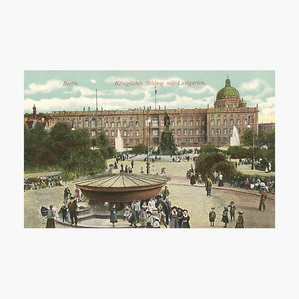 Berlin Royal Castle and the pleasure garden Fotodruck