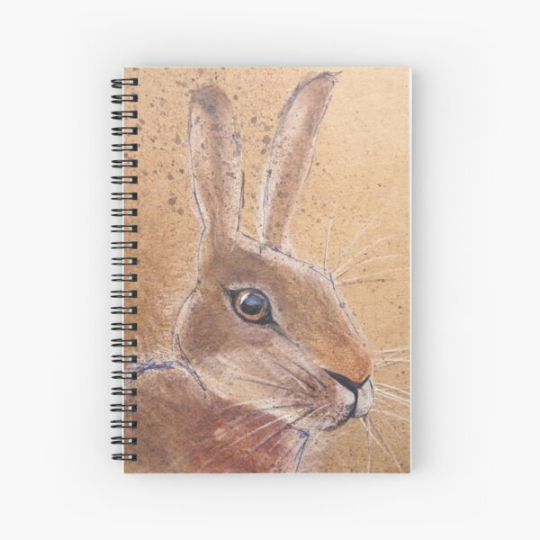 British Hare - deep in thought Spiral Notebook
