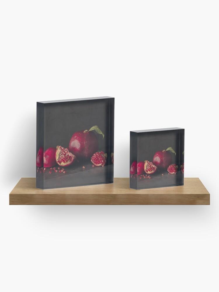 Alternate view of Pomegranate Acrylic Block