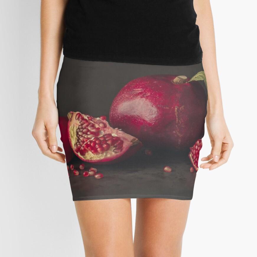 Pomegranate Mini Skirt