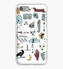 raven doodles iPhone Case/Skin