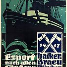 Hacker Braeu Munich Export Poster by edsimoneit