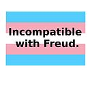 """Incompatible with Freud"" trans flag. by elmyra23"