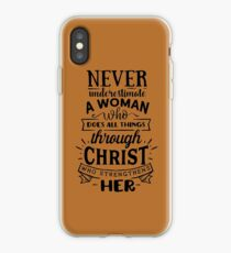 All Things Through Christ iPhone Case