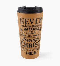 All Things Through Christ Travel Mug