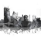 Toledo, Ohio Skyline - B & W von Marlene Watson