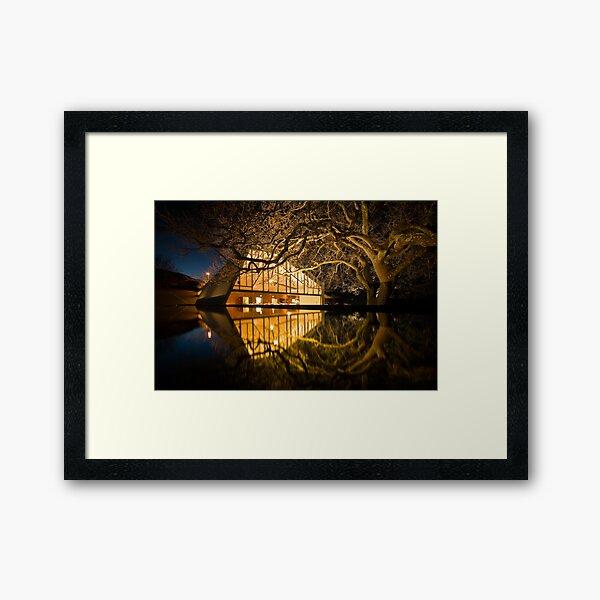 My Place of Work! - Peppermint Bay, Woodbridge, Tasmania Framed Art Print