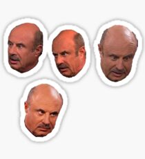 The faces of Dr Phil Sticker