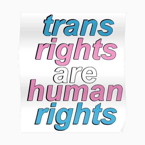 les droits trans sont des droits humains Poster