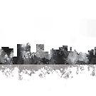 Topeka, Kansas Skyline - B & W von Marlene Watson