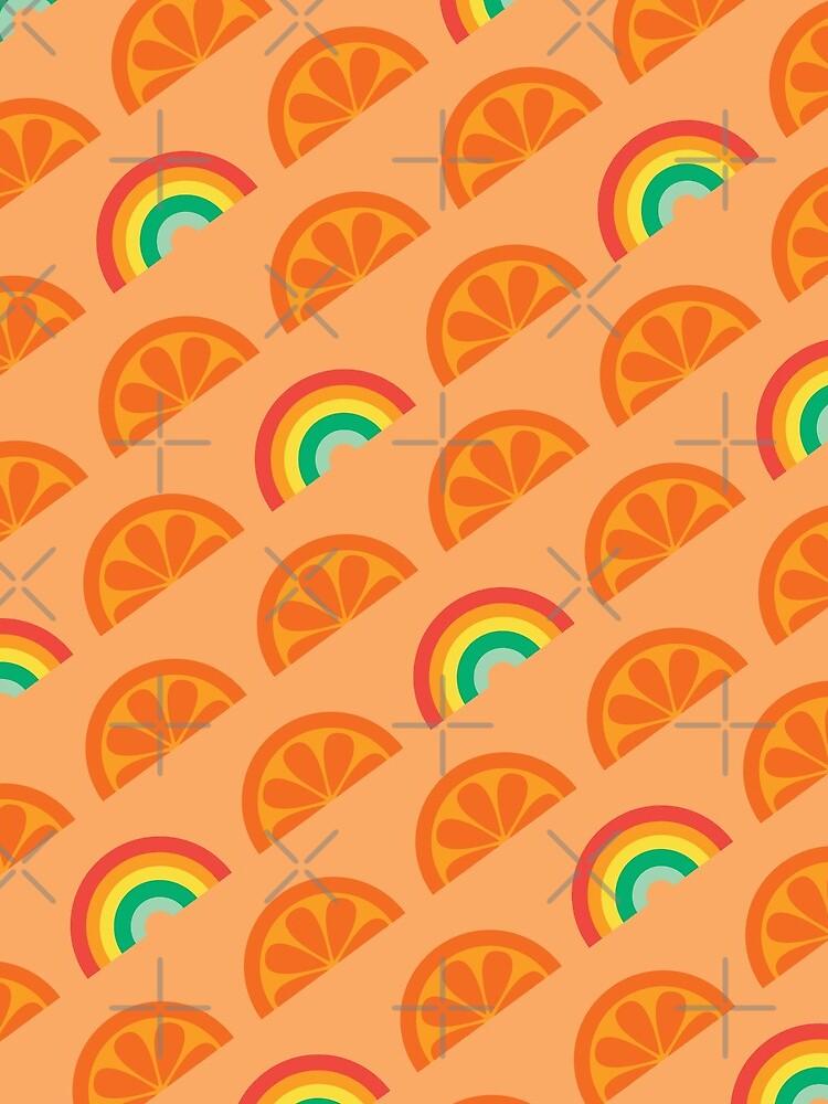 Orange Rainbow Pattern Design by jsongdesign