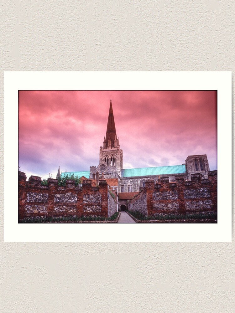 Alternate view of Chichester Cathedral Art Print
