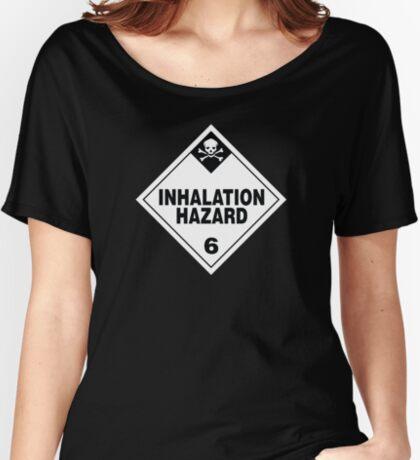 Inhalation Hazard Warning Sign Relaxed Fit T-Shirt