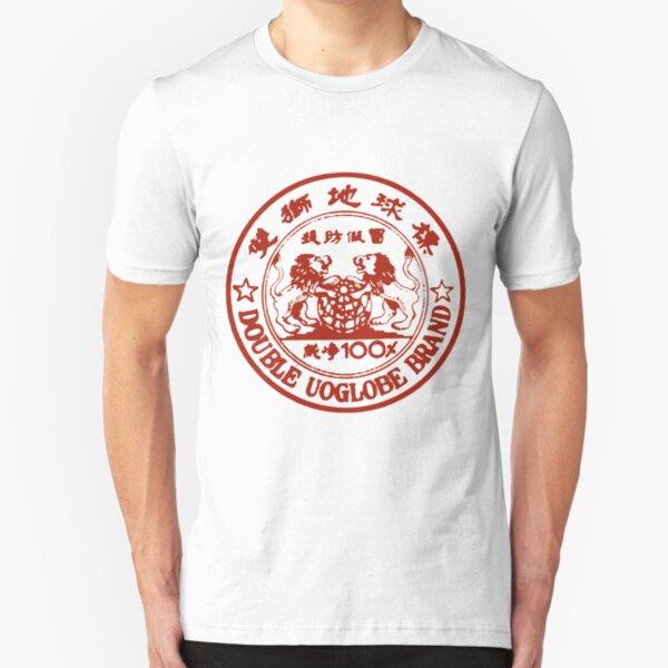 Double UOGlobe Brand Slim Fit T-Shirt