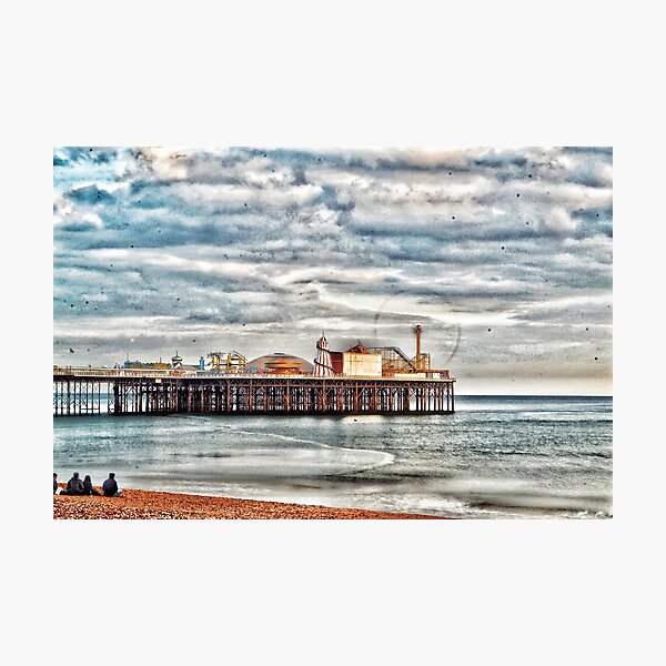 The Pier Rides Go Photographic Print