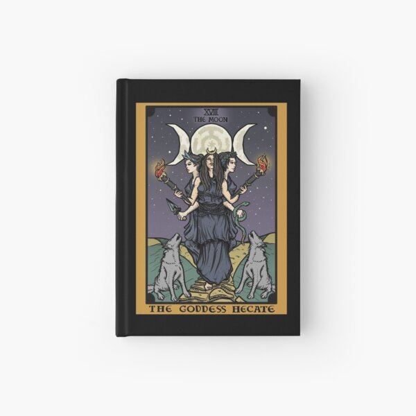 Hecate Triple Moon Goddess of Witchcraft and Magick Witch Hekate Wheel Tarot Card Hardcover Journal